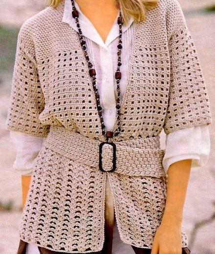 Crochet Cardigan Pattern Casual Crochet Jacket Casual Cardigan