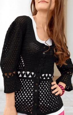 Favorite patterns - crochet jacket 3042