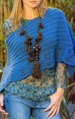 Favorite patterns - crochet poncho 7019a