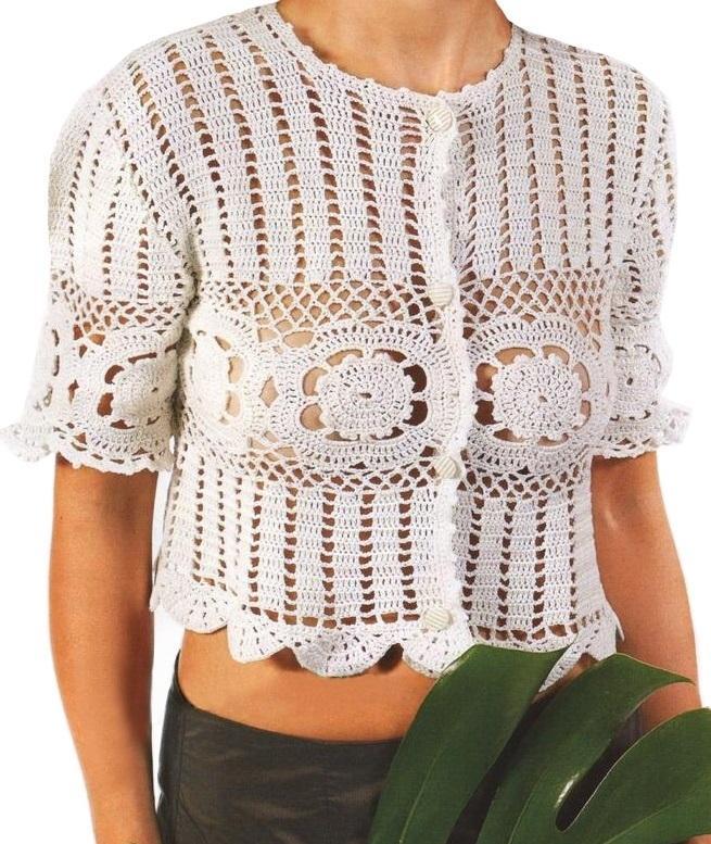 Crochet Top Pattern Sexy Crochet Blouse Pattern Boho Crochet Top