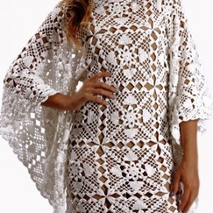 Crochet dress PATTERN, beach wedding dress pattern, crochet tunic.