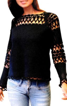 Favorite patterns - crochet pullover 4041