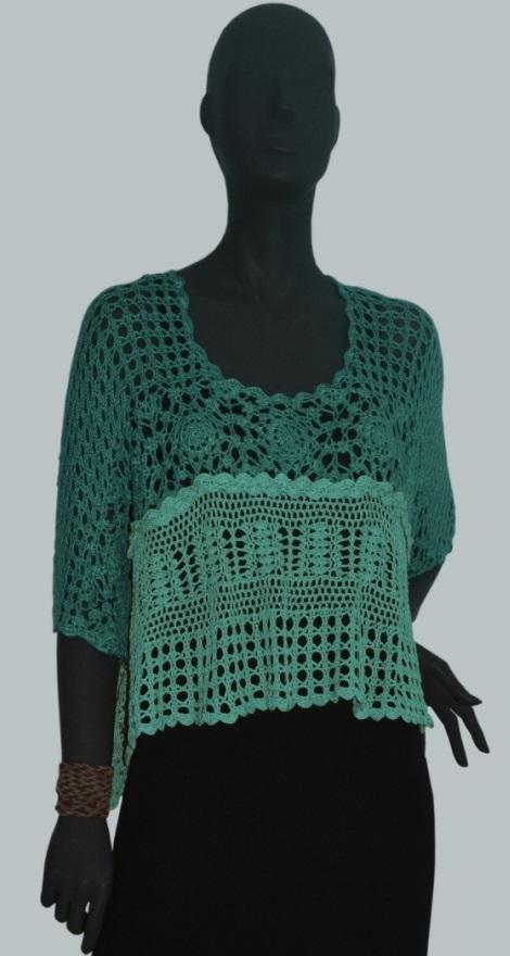 Crochet Top Pattern Lacy Crochet Top One Size Fits Most Boho Top