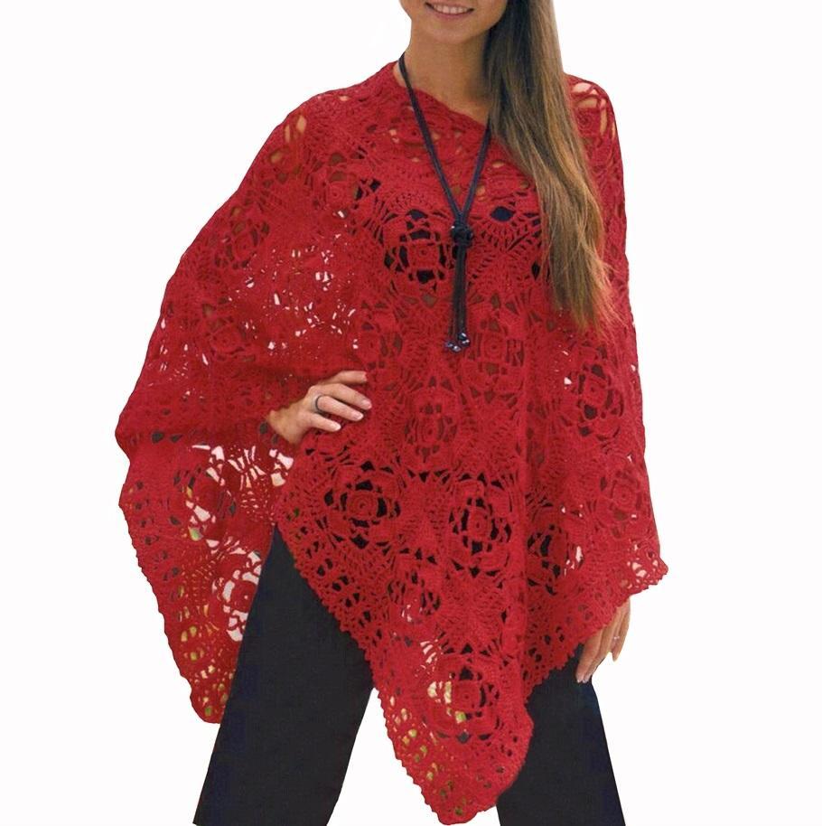 Crochet poncho PATTERN, boho crochet poncho pattern, crochet cover ...