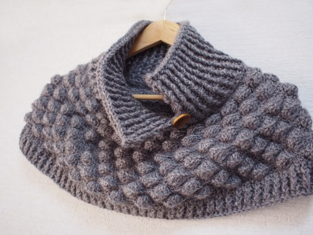 Crochet poncho PATTERN, removable crochet collar pattern, warm ...