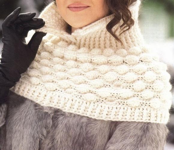 Crochet Poncho Pattern Removable Crochet Collar Pattern Warm
