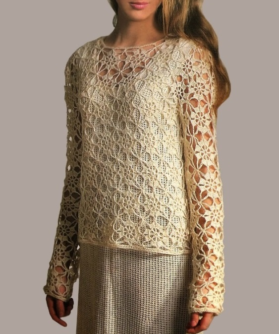 Crochet Tunic Pattern Boho Tunic Pattern Casual Crochet Top