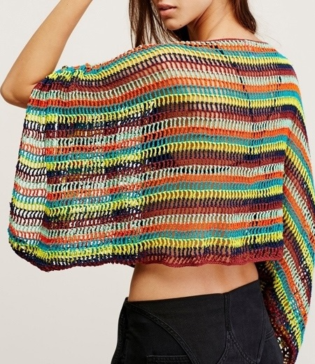 Crochet Poncho Pattern Easy Designer Poncho Off Shoulder Top