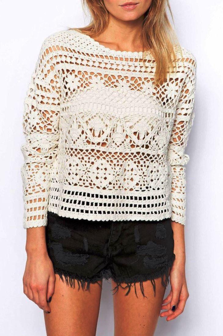 Crochet Pullover Pattern Crochet Crop Top Pattern