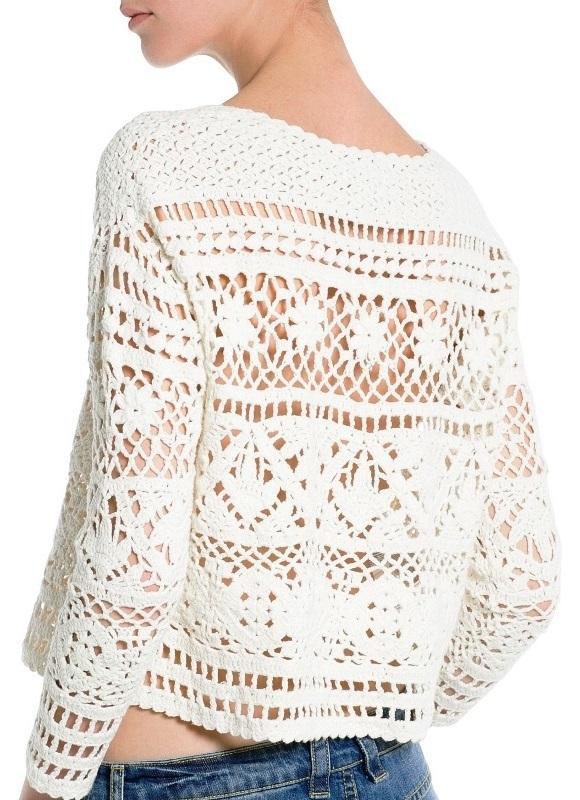 Crochet Pullover Pattern Crochet Crop Top Pattern Crochet Sweater