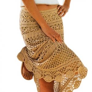 Crochet skirt PATTERN, maxi crochet skirt pattern, beach crochet skirt.