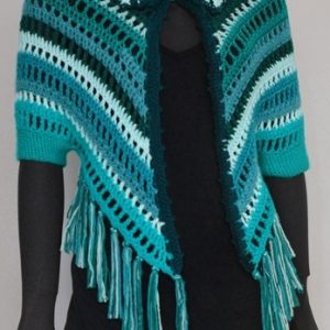 Crochet shrug PATTERN, crochet shoulder wrap, casual crochet shrug PDF.