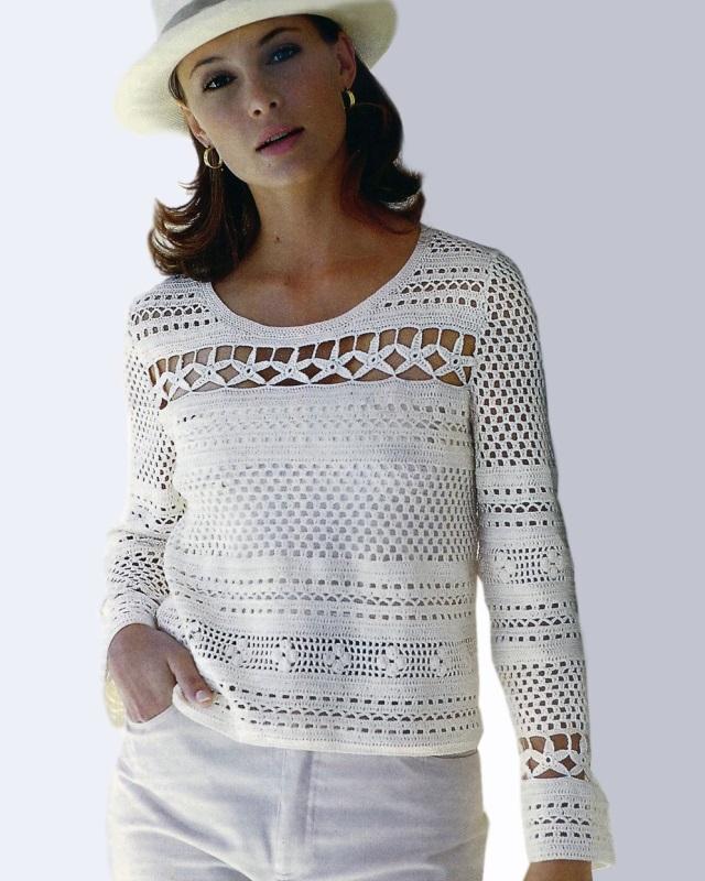 Crochet Pullover Pattern Casual Tunic Pattern Beach Crochet Top
