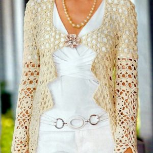 Crochet jacket PATTERN, evening jacket pattern, party crochet jacket.