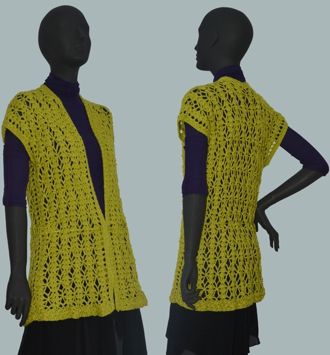 Crochet Vest Pattern Warm Crochet Top Casual Crochet Vest Pattern