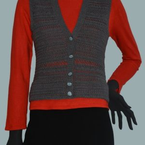 Crochet vest PATTERN, warm crochet top, casual crochet vest pattern.