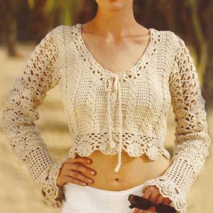 Crochet pullover PATTERN, casual crochet sweater, warm crochet top PDF.