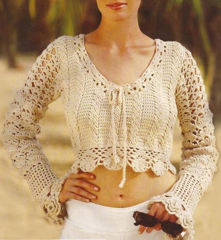Crochet Pullover Pattern Casual Crochet Sweater Warm Crochet Top