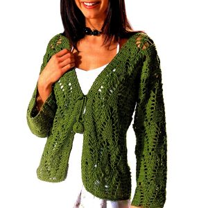 Crochet jacket PATTERN, casual crochet jacket, warm jacket pattern.