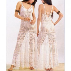 Beach wedding crochet dress PATTERN, maxi crochet wedding dress.